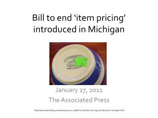 Bill to end 'item pricing' introduced in Michigan