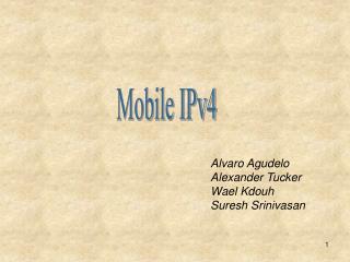 Alvaro Agudelo  Alexander Tucker Wael Kdouh Suresh Srinivasan