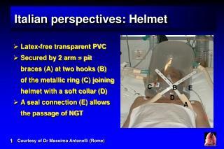 Italian perspectives: Helmet