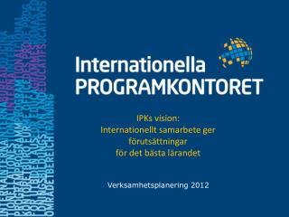 Verksamhetsplanering 2012