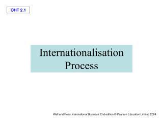 Internationalisation Process