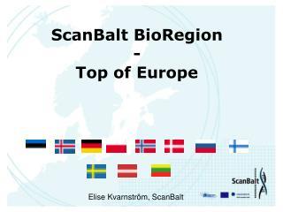 ScanBalt BioRegion - Top of Europe