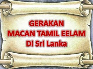 GERAKAN  MACAN TAMIL EELAM Di Sri Lanka