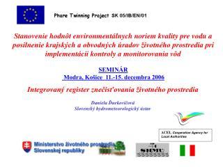 Integrovaný register znečisťovania životného prostredia  Daniela Ďurkovičová