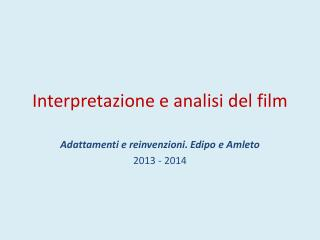 Interpretazione e analisi del film