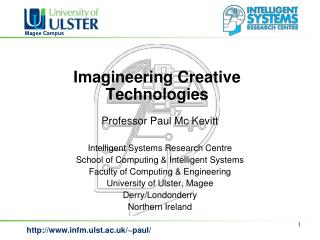 Imagineering Creative Technologies
