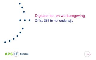 Digitale leer en werkomgeving Office 365 in het onderwijs
