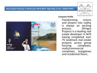 Real Estate Property in Neemrana NH-8,NCR- High Way Cruise -
