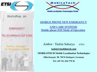MOBILE PHONE NEW EMERGENCY  AND CARE SYSTEMS