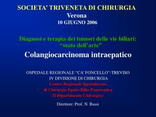 SOCIETA' TRIVENETA DI CHIRURGIA Verona  10 GIUGNO 2006