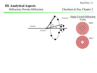 III. Analytical Aspects
