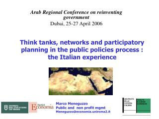 Arab Regional Conference on reinventing government Dubai, 25-27 April 2006