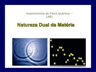 Natureza Dual da Matéria