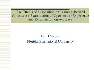 Eric Cartaya Florida International University