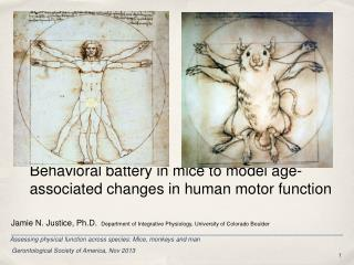 Behavioral battery in mice to model age-associated changes in human motor function