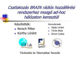 Csatlakoz ás BRAIN rádiós hozzáférési rendszerhez mozgó ad-hoc  hálózaton keresztül