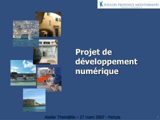 Projet de développement numérique