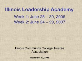 Illinois Leadership Academy