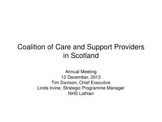 Coalition of Care and Support Providers in Scotland