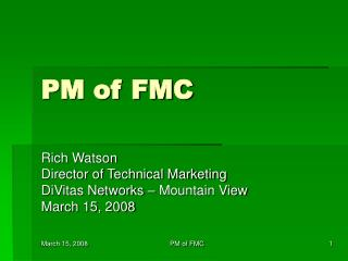 PM of FMC