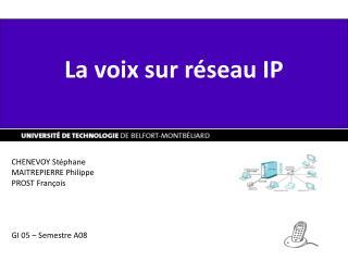 La voix sur réseau IP