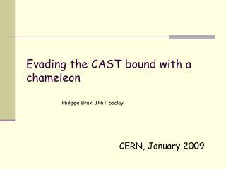 CERN, January 2009