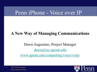 Penn iPhone - Voice over IP