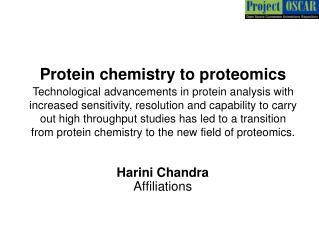 Protein chemistry to proteomics