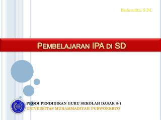 Pembelajaran IPA di SD