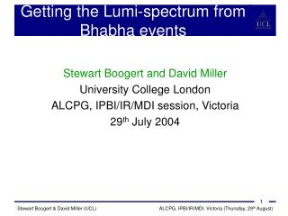 Getting the Lumi-spectrum from Bhabha events