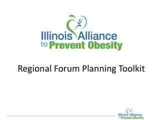 Regional Forum Planning Toolkit