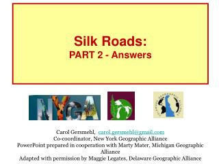 Silk Roads: PART 2 - Answers