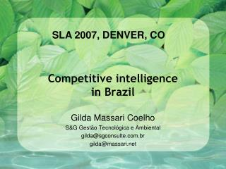 Competitive intelligence in Brazil