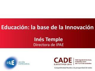 Educación: la base de la Innovación