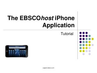 The EBSCO host  iPhone Application