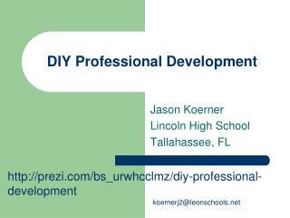 DIY Professional Development