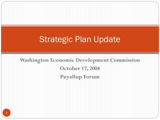 Strategic Plan Update