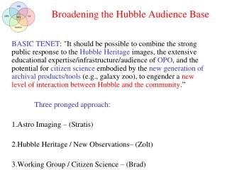 Broadening the Hubble Audience Base