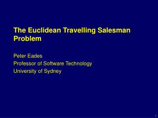 The Euclidean Travelling Salesman Problem
