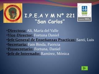 "I.P.E.A Y M Nº 221 ""San Carlos"""