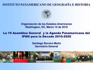 Organización de los Estados Americanos Washington, DC, Marzo 15 de 2010
