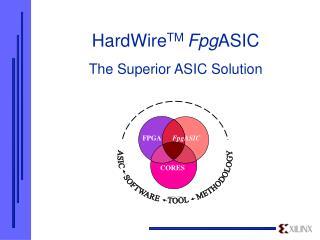 HardWire TM  Fpg ASIC The Superior ASIC Solution