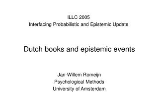 Dutch books and epistemic events