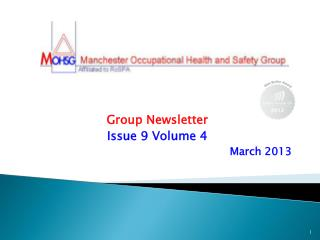 Group Newsletter Issue 9 Volume 4 March 2013