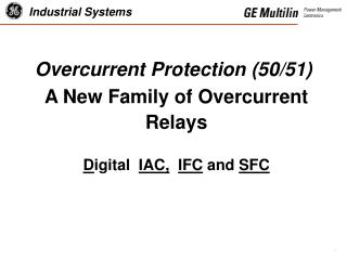 Overcurrent Protection (50/51)