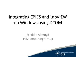 Integrating EPICS and LabVIEW on Windows using DCOM