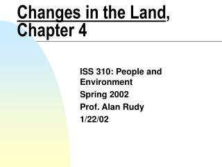 Changes in the Land , Chapter 4