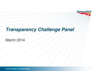 Transparency Challenge Panel