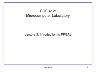 ECE 412:  Microcomputer Laboratory