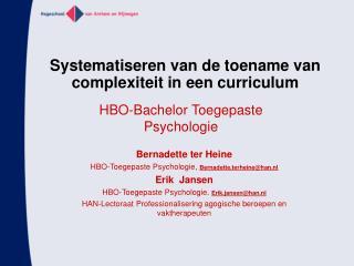 Systematiseren van de toename van complexiteit in een curriculum